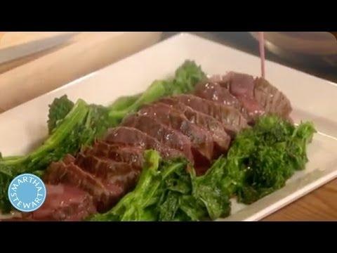 Roasted Beef Tenderloin with a Red Wine Butter Sauce - Martha Stewart