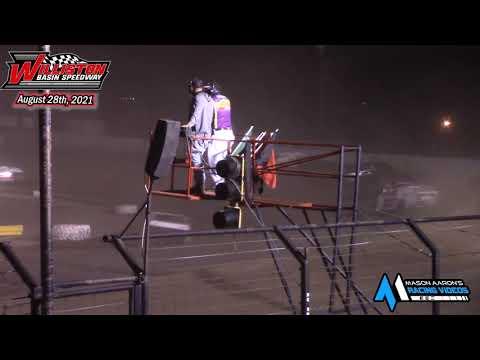 Williston Basin Speedway IMCA Modified A-Main (8/28/21) - dirt track racing video image