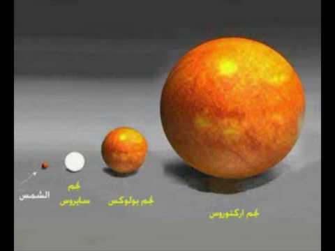 حجم الأرض بالنسبة للكون . شاهد عظمة الخالق