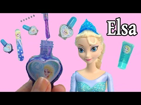 Disney Frozen Queen Elsa Sparkle Make-Up Set Nail Polish Body Glitter Dress Up Playset Cookieswirlc - UCelMeixAOTs2OQAAi9wU8-g