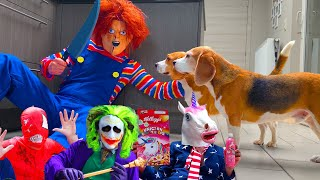 Funny Dogs Get Pranked Compilation 5 : Cute Dogs Louie and Marie