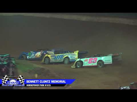 Blue Ridge Outlaw Late Model Feature - HorsePower Park 9/4/21 - dirt track racing video image