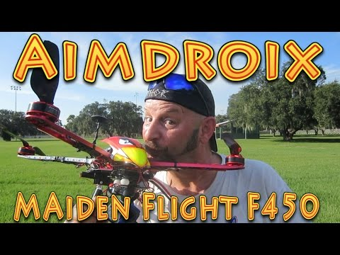 Aimdroix Extension Arms Maiden Flight DJI F450!!! (09.05.2015) - UC18kdQSMwpr81ZYR-QRNiDg