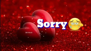 Watch I\'m Sorry Whatsapp Status Video For Love Best Sorry