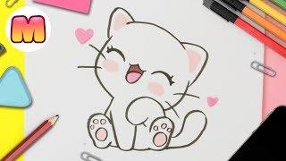 Youtube Como Dibujar Gato Kawaii Paso A Paso Dibujos