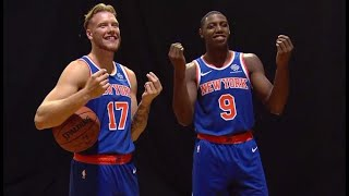 Behind the Scenes With Knicks' RJ Barrett & Iggy Brazdeikis at NBA Rookie Photo Shoot