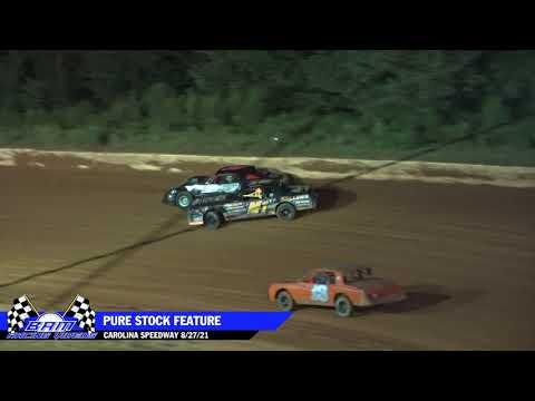 Pure Stock Feature - Carolina Speedway 8/27/21 - dirt track racing video image