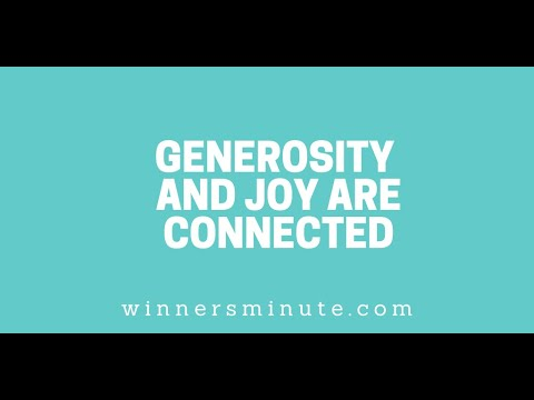 Generosity and Joy Are Connected // The Winner's Minute With Mac Hammond
