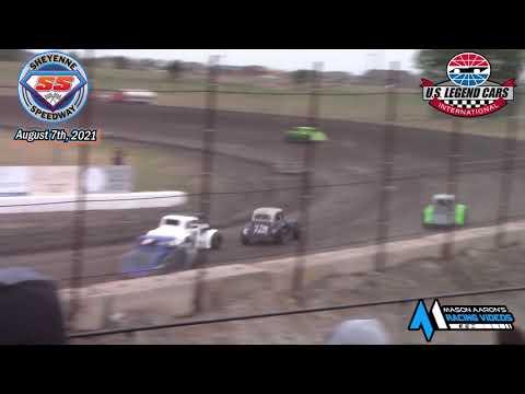 Sheyenne Speedway INEX Legends A-Main (8/7/21) - dirt track racing video image