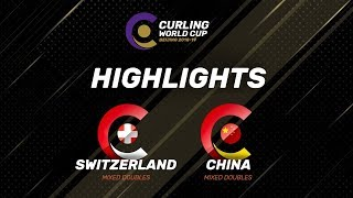 HIGHLIGHTS: Switzerland v China - Mixed Doubles - Curling World Cup Grand Final - Beijing, China