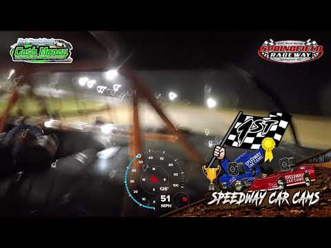 #5 John Briggs - Cash Money Late Model - 4-11-2021 Springfield Raceay - In Car Camera - dirt track racing video image