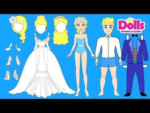 PAPER DOLLS WEDDING DRESS PAPERCRAFT HANDMADE DOLLS BRIDE & GROOM - UCbhj0q0WSv5uEPd12X35_IQ