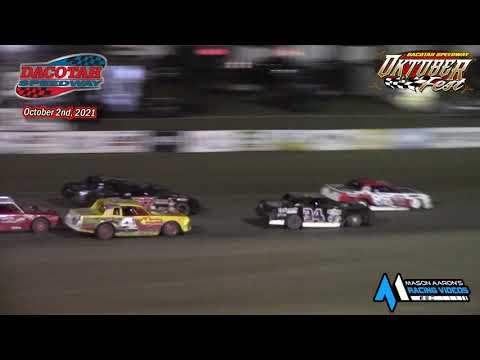 Dacotah Speedway IMCA Stock Car A-Main (Oktoberfest) (10/2/21) - dirt track racing video image