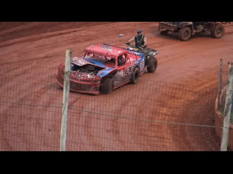 Wild Modified Street Race at Winder Barrow Speedway July 31st 2021 - dirt track racing video image