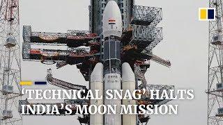 'Technical snag' halts India's moon mission