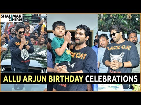 Allu Arjun Birthday Celebrations || Stylish Star Allu Arjun B Day Celebrations || Shalimarcinema