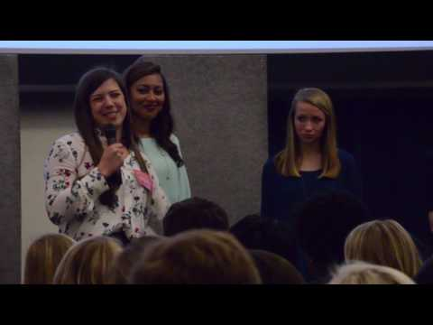 Candidates for Miss Auburn discuss their platforms for the 2017 Miss Auburn election on Monday, Feb. 6, 2017 in Auburn, Ala..