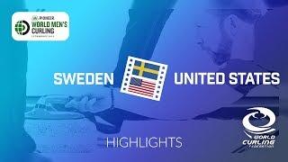 HIGHLIGHTS: Sweden v United States - Pioneer Hi-Bred World Men's Curling Championship 2019
