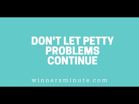 Dont Let Petty Problems Continue // The Winner's Minute With Mac Hammond
