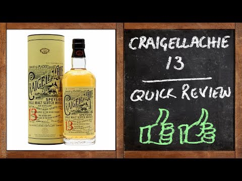 Craigellachie 13  - Whisky Quick Review - UC8SRb1OrmX2xhb6eEBASHjg