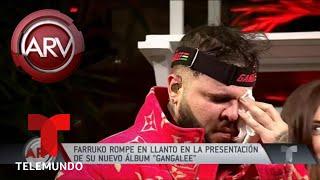 Farruko rompe en llanto presentando su álbum Gangalee | Al Rojo Vivo | Telemundo