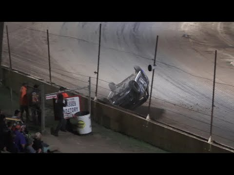 Flinn Stock A-Feature at Crystal Motor Speedway, Michigan on 08-14-2021!! - dirt track racing video image