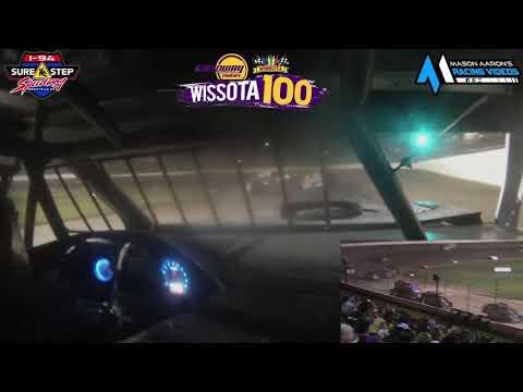 #9B Brendan Blasyck WISSOTA Midwest Modified On-Board @ WISSOTA 100 (9/18/21) - dirt track racing video image