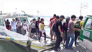 Native wooden passenger boats resume the Guimaras-Iloilo City trips after DOTr lifted the suspension