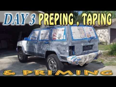 1996 JEEP CHEROKEE CLASSIC XJ  PRIMING PREPPING AND TAPING  DAY 3 - UCEPQf2fSnWEl2c8D8pJDULg