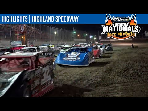 DIRTcar Summer Nationals Late Models Highland Speedway August 13, 2021 | HIGHLIGHTS - dirt track racing video image