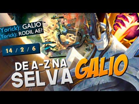ELE AP É HORRÍVEL, MAS TANK É OUTRO NÍVEL DE GAMEPLAY!! | DE A-Z NA SELVA | GALIO