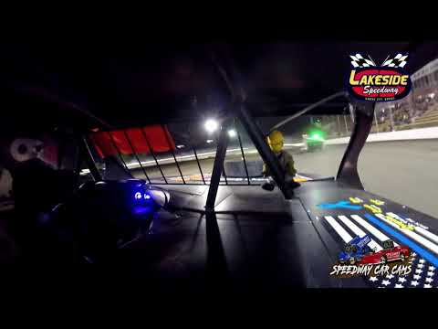 #57P Tim Powell - USRA B Mod - 5-14-2021 Lakeside Speedway - In Car Camera - dirt track racing video image