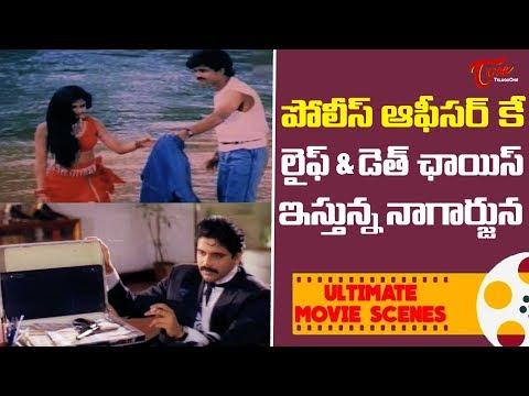 పోలీస్ ఆఫీసర్ కే లైఫ్ & డెత్ ఛాయిస్ ఇస్తున్న నాగార్జున | Ultimate Movie Scenes | TeluguOne