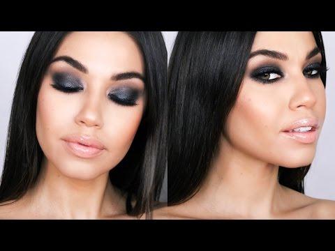 Gray Black Smokey Eye   Holiday Smokey Eye Makeup Tutorial   Eman - UCaZZh0mI6NoGTlmeI6dbP7Q