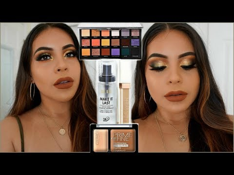 DRUGSTORE FALL MAKEUP TUTORIAL USING AFFORDABLE MAKEUP BRUSHES | JuicyJas - UCqTR5f7YkGro3cPv23SqcqQ