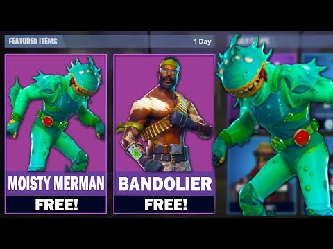 """FREE NEW """"Moisty Merman"""" SKIN in FORTNITE! NEW Skins for FREE! Pro Player (Fortnite Battle Royale) - default"""