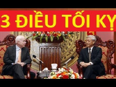 John McCain và 3 điều lãnh đạo VN không bao giờ muốn nói tới!