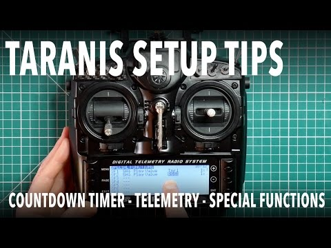 Taranis setup - flight countdown timer, telemetry, logical switches and special functions - UCmU_BEmr7Nq_H_l9XxUglGw
