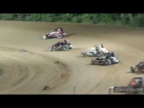 Great Lakes Traditional Sprints A-Main - Crystal Motor Speedway - 9-4-2021 - dirt track racing video image