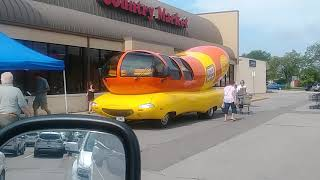 Wienermobile sighting in Adrian MI Country Market