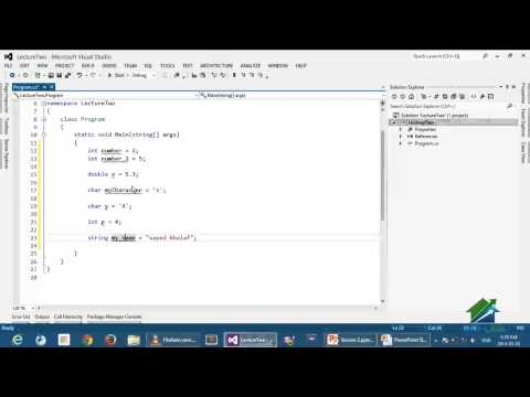C # programming language | Aldarayn Academy | Lec 2 Part 2