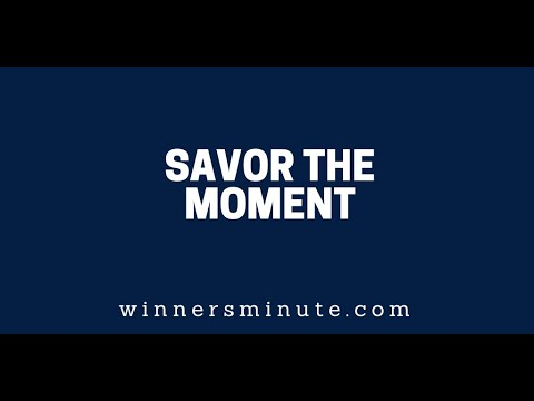 Savor the Moment // The Winner's Minute With Mac Hammond