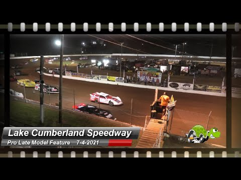 Lake Cumberland Speedway - Pro Late Model feature - 7/4/2021 - dirt track racing video image