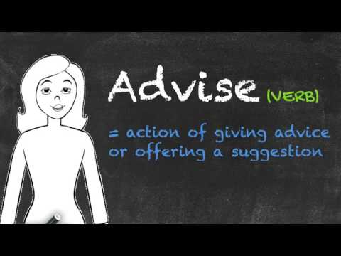 Advice vs Advise - English Grammar - Teaching Tips