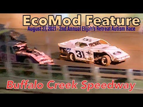 EcoMod Feature - Buffalo Creek Speedway - 2nd Annual Elijah's Retreat Autism Race - August 27, 2021 - dirt track racing video image