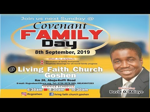 COVENANT FAMILY DAY 1ST SERVICE SEPTEMBER 08, 2019