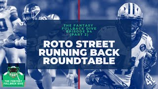 2019 Fantasy Football Running Back Roundtable | Roto Street Journal Fantasy Football Podcast