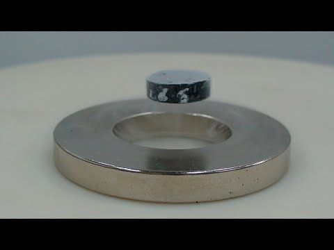 flying magnet - magnetic levitation (floating magnet) experiment - how to levitate a magnet - HD - UChuSNz85l1GSLZ4u-yVCf8A