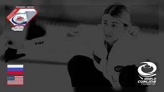 Russia v United States - round robin - World Mixed Doubles Curling Championship 2019