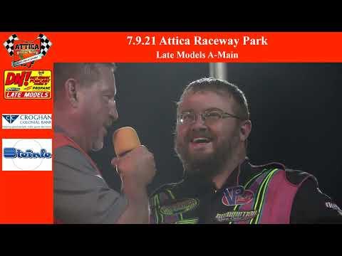 7.9.21 Attica Raceway Park Late Models A-Main - dirt track racing video image